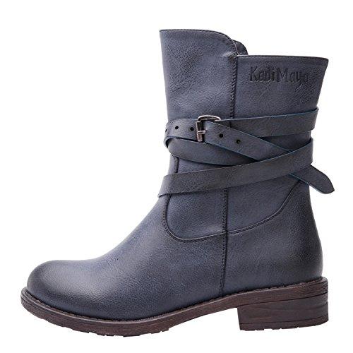 Glbalwin Boots Blue Global Win 17yy10 Women's Fashion OW7wwSq58