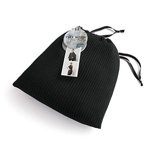 - Black Plisse' Women's One Size Poly Blend Multiwear City Wrap on the Go