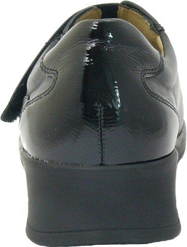Finn comfort nairobi en forme descarpin pour l. dépôts knautschlack/cuir-noir