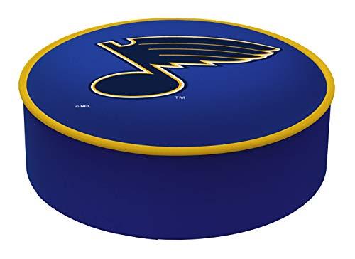Louis Blues Stool Bar - St. Louis Blues HBS Blue Vinyl Elastic Slip Over Bar Stool Seat Cushion Cover