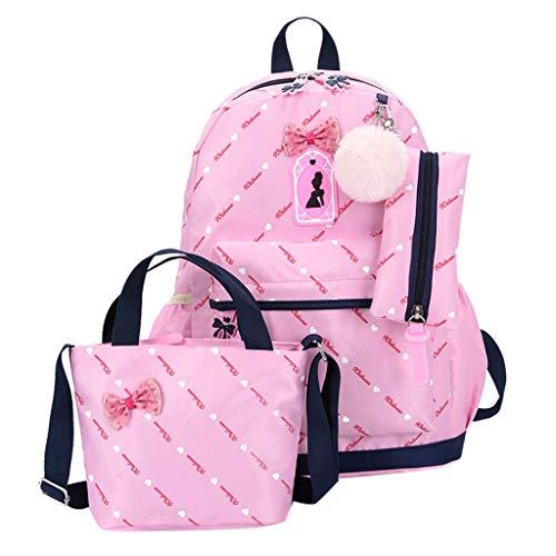 Summer May Deals!DDKK bags Three-Piece School Bag Canvas Backpack-Lightweight Teen Girls Bookbags Insulated Lunch Bag-Patterned Bookbag Laptop School Backpack-Travel Backpack Tote Bag