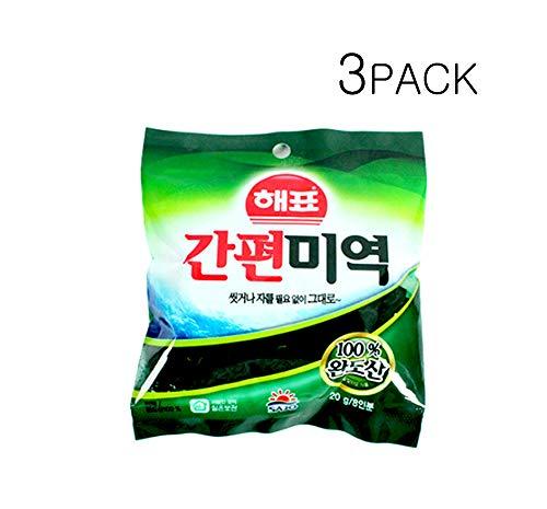 VitaminSea Organic Seaweed - The Highest Quality Wando-San Seaweed -Dried Cut Seaweed - Sea Vegetables (0.7oz 3PACK) (Vegetable Wakame Sea)