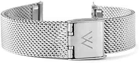 Wristology Quick Release Silver Metal Mesh Easy Change Band Strap 20mm