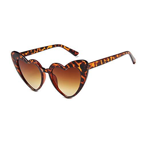 JUSLINK Heart Shaped Sunglasses for Women, Cat Eye Mod Style Retro Kurt Cobain Glasses ()