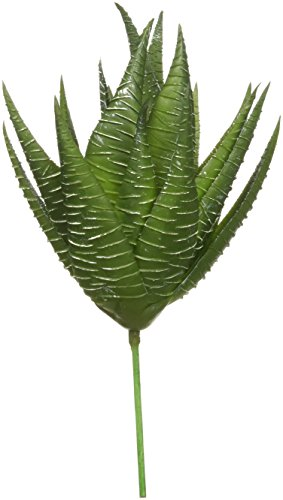 Darice Textured Faux Succulent Pick, Spiky Green Haworthia (Faux Succulent)