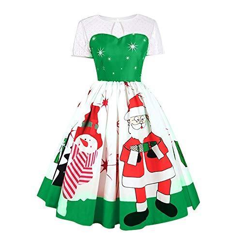 NRUTUP Fashion Women Merry Christmas Vintage Santa Claus