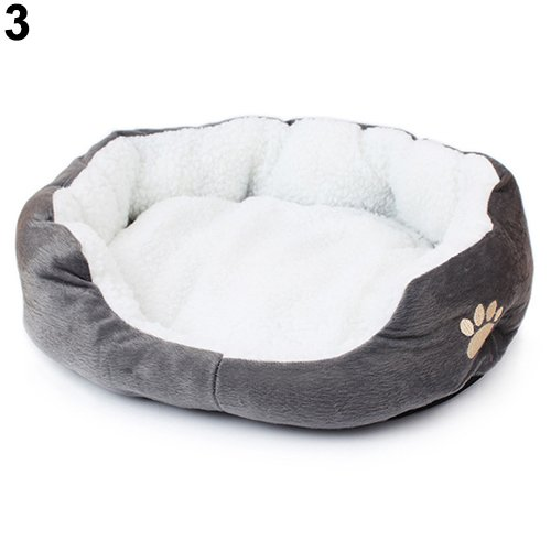 Teydhao Fashion Winter Warm Dog Cat Puppy's Bed House Kennel Covers Soft Pad Bed Pet Cushion Mat Deluxe Pet Beds | Super Plush Dog Cat Beds Ideal for Dog Crates | Machine Wash Dryer Friendly (Gray)