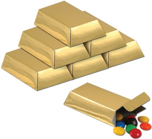 Foil Gold Bar Favor Boxes   - Bar Theme Candy