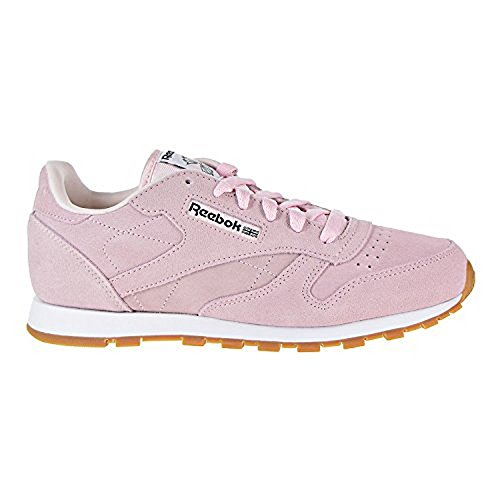 Pastel Pink Shoes - Reebok Classic Leather Pastels Big Kid's Shoes Pink/Classic White cn0569 (6 M US)