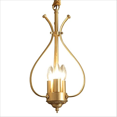 D3 Light Pendant (Diy Family Vintage Pendant Light E143, Industrial Metal Bronze Loft Bar Ceiling Light,Taditional Retro White Light Space 8-12㎡ (no light source))