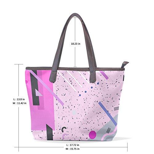 Coosun Womens Retro Designs Pu Leder große Einkaufstasche Griff Umhängetasche