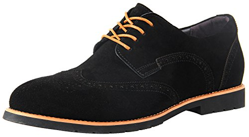 iLoveSIA Men's Urban Brogue Wingtip Casual Suede Leather Shoe Black US - Suede Shoes Genuine Leather