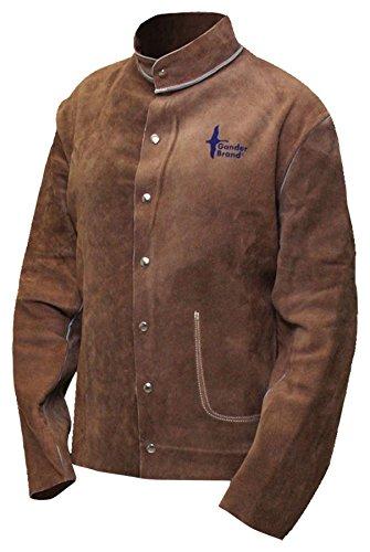 Bob Dale Gloves 641650L Welding Jacket Split Cowhide H.D. Brown,