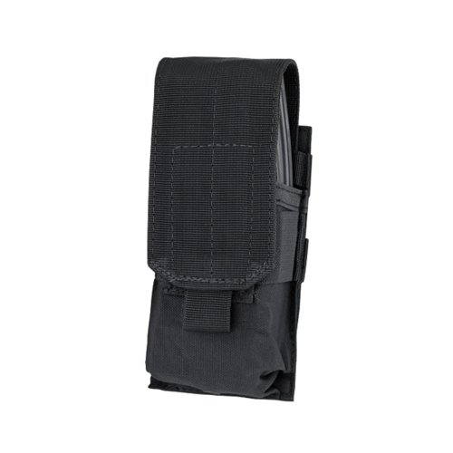 System M4 Double Mag Pouch - Condor MA5 Single M4 Mag Pouch (Closed Top) (Black)