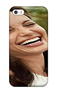 New Arrival Case Cover With GNrlSGw10890JMYfJ Design For Iphone 5/5s- Women Angelina Jolie People Women