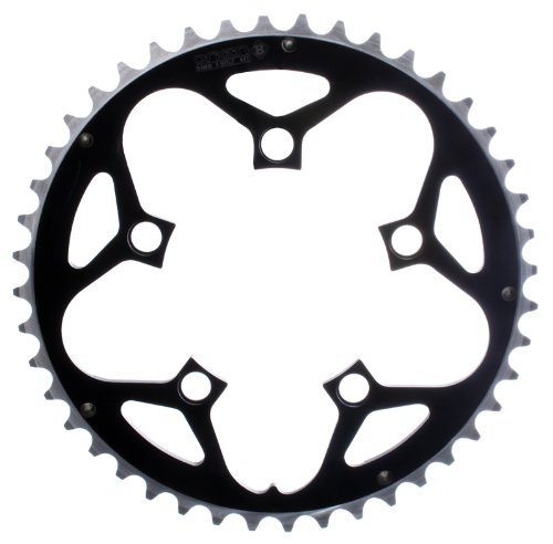 Origin8 Alloy Ramped Chainrings, 130mm x 53t, Black/Silver ()