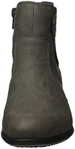 Rieker Y0741, Botines para Mujer Gris (fumo/grigio / 45)