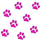 動物 犬 足跡 足型 肉球 マーク  ステッカー シール デカール ピンク 8個セット (5cm)
