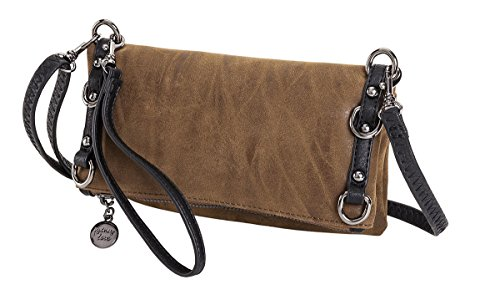 Grommet Crossbody Fold Blacl Sydney Faux Chocolate Love Over Suede YUnAq5