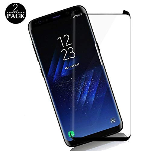 Samsung Galaxy Note 8 Screen Protector, [2-Pack] Toughened Glass Screen Protector, 9H Hardness Scratch and Bubble Resistance, 3D Bending High Definition, Ultra-Clear, Compatible with Samsung Galaxy No (Glass Toughened)