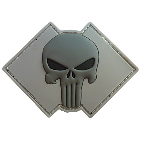 LEGEEON ACU Gray Punisher Skull US Navy Seals DEVGRU PVC 3D Rubber Touch Fastener Patch