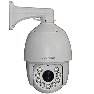 VENTECH CCTV PTZ Security Camera 27X Zoom 700TVL CCD 9 Array Leds Night Vision RS-485 6inch Pan & Tilt Surveillance