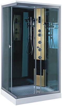 DUCHA CABINA DE HIDROMASAJE Modelo Taormina 100 x 70 cm SPA RADIO CROMOTERAPIA: Amazon.es: Bricolaje y herramientas