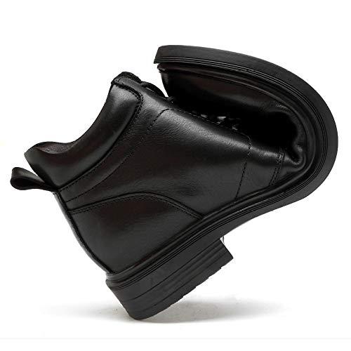 Pelle Con Da Con Stivali Da Esercito Alti Motociclista Esterno Stivali Neri In Militari In Pelle Stivali Vera Sicurezza HGDR Stivali Cadetto Da Uomo Stivali Lacci Caviglia Black OtqOw
