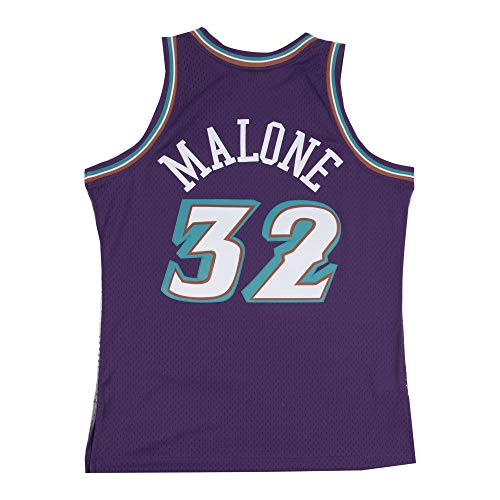 Mitchell & Ness Karl Malone # 32 Utah Jazz 1996 - 97 Swingman NBA Camiseta Lila, XX-Large: Amazon.es: Deportes y aire libre