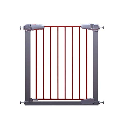 Safety Gates Wide Pet Gate with Cat Flap Effective Barrier for Pets with Extensions Available Pressure Mounted for Stairs Hallway Doorway Two Way (Size : 127-133cm)