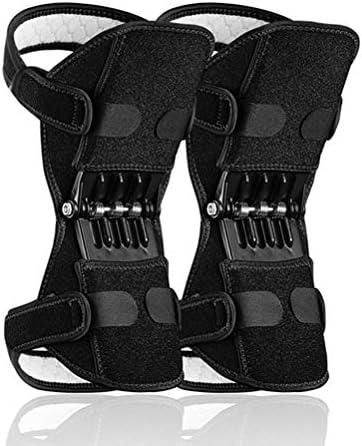FQXM Knieschutz Booster Knie Booster Joint Support Knieschützer Kniebandage mit leistungsfähigem Zugstufe Federkraft für Gym, Outdoor Sport (1 Paar)