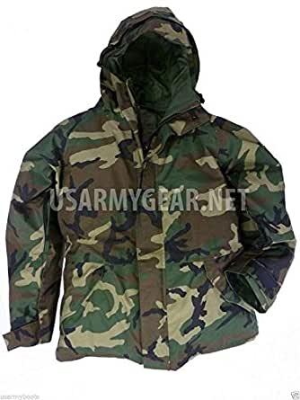 New US Army Cold Wet Weather Gen 1 ECWCS Woodland Goretex Parka Jacket Coat (Small/Long)