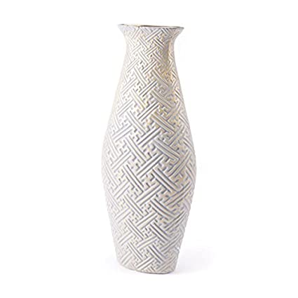 Amazon Zuo Arcadia Vase Large Gray Gold Home Kitchen
