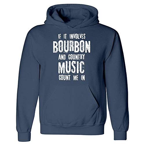 Bourbon and Country Music Count Me in - Hoodie Navy