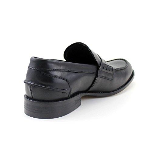 Para Negros Elegante Zapatos Mano Clásico A Hechos Rea Giorgio Italia Mocasines Hombre Negro En AqxdBqRw1W