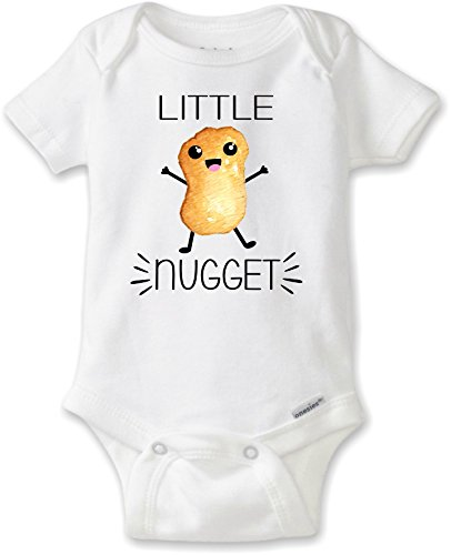 Onesie Food (DoozyDesigns Little Nugget - Funny Unisex Baby Bodysuit (Newborn Gerber Onesies Brand Short Sleeve Bodysuit))
