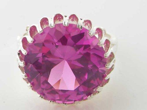 Bague pour Femme en Argent fin 925/1000 sertie de Saphir rose - Taille - Tailles 50 à 64 disponibles