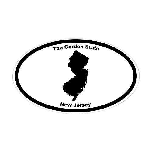 CafePress - New Jersey Nickname Oval Sticker - Oval Bumper Sticker, Euro Oval Car - Nj Gardens Jersey Elizabeth
