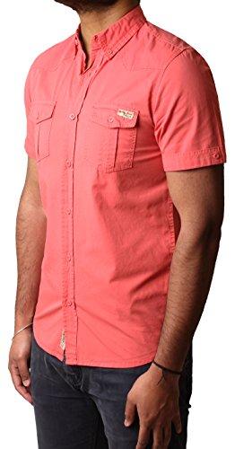 Camiseta para hombre Tokyo Laundry 1h3621a Casual verano manga corta S, M, L y XL Rosa
