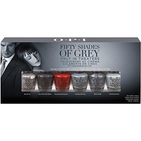 OPI Fifty Shades Grey Mini 6pk, 0.125 Ounce