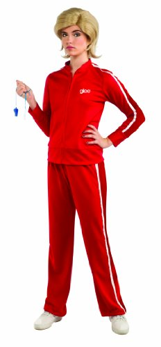 Glee Sue's Red Track Suit Adult Costume, Standard Color, (Glee Costume)