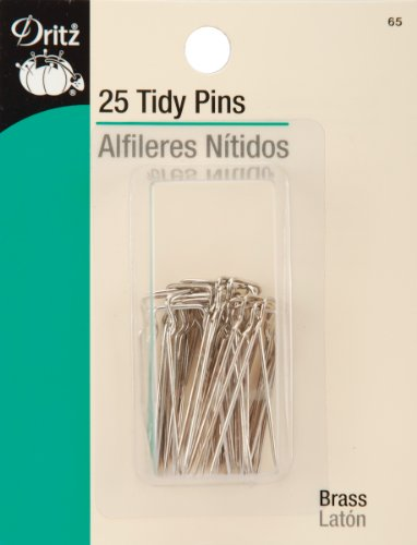 Pins Tidy - Dritz 65 Tidy Pins, Nickel-Plated Brass (25-Count)