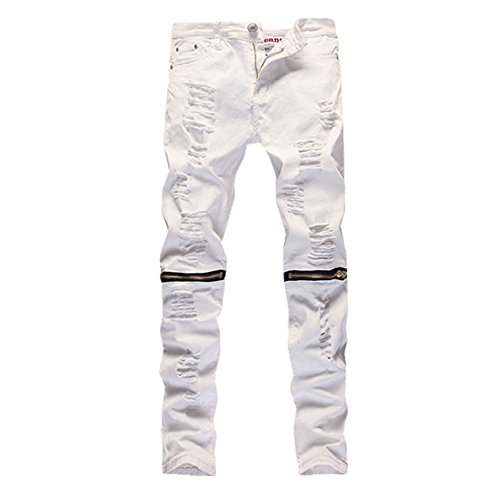 Just No Logo Men's Skinny Hipster Skinny Ripped Gothic (Skinny Leather Pants)