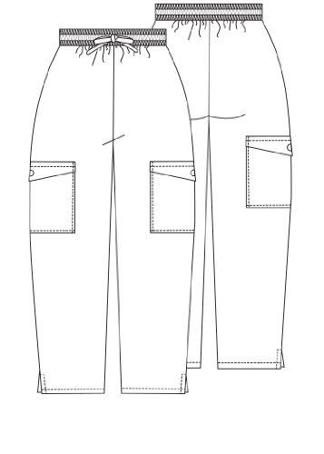 Adar Universal Natural-Rise Cargo Pocket Capri Pants - White -
