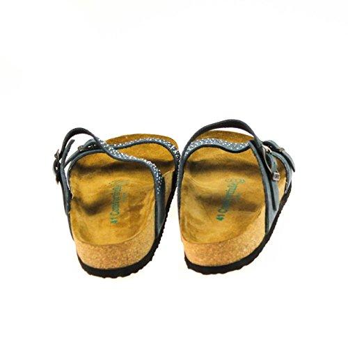 Comfortfüße Zapatilla Baja de Piel Mujer
