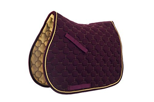 Roma Ecole Noble Saddle Pad - All Purpose - Size:Full Color:Burgundy/Gold