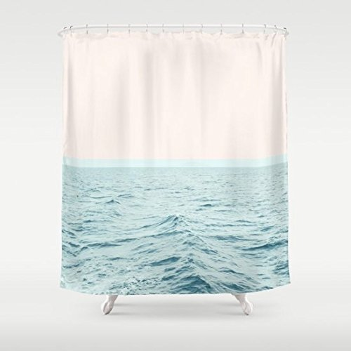 Haronng Sea Breeze Society6 Decor Style Tech Polyester Shower Curtain, 72