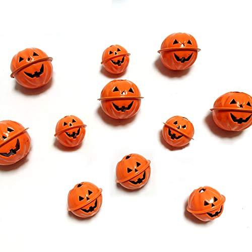 JUSTDOLIFE 12PCS Pumpkin Bell Creative Assorted Decorative Bell Craft Bell for Halloween ()