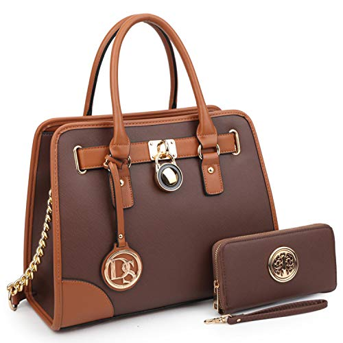 MMK Collection Fashion Classic Packlock Handbag for Lady(6892/6487) Signature fashion Designer Purse Handbag (6892W-CF)