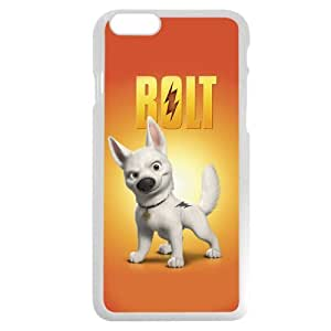 """meilinF000Customized White Hard Plastic Disney Cartoon Movie Bolt iPhone 6 4.7 Case, Only fit iPhone 6 4.7""""meilinF000"""